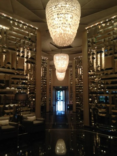 The crystal and mirror-filled lobby of the St. Regis Bal Harbour.