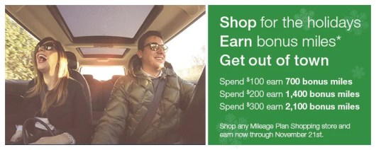 Spend $100, get 700 Alaska miles