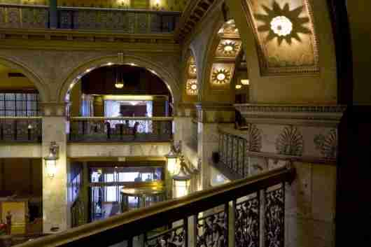 The ornate atrium of the Brown Palace Hotel & Spa