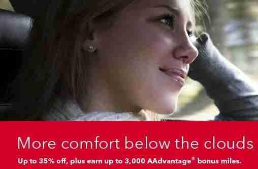 Get bonus AAdvantage miles with Avis rentals