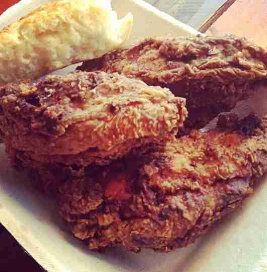 Fried chicken is the main attraction at Fat Lyle