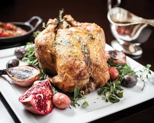 Deca's delectable Thanksgiving turkey.