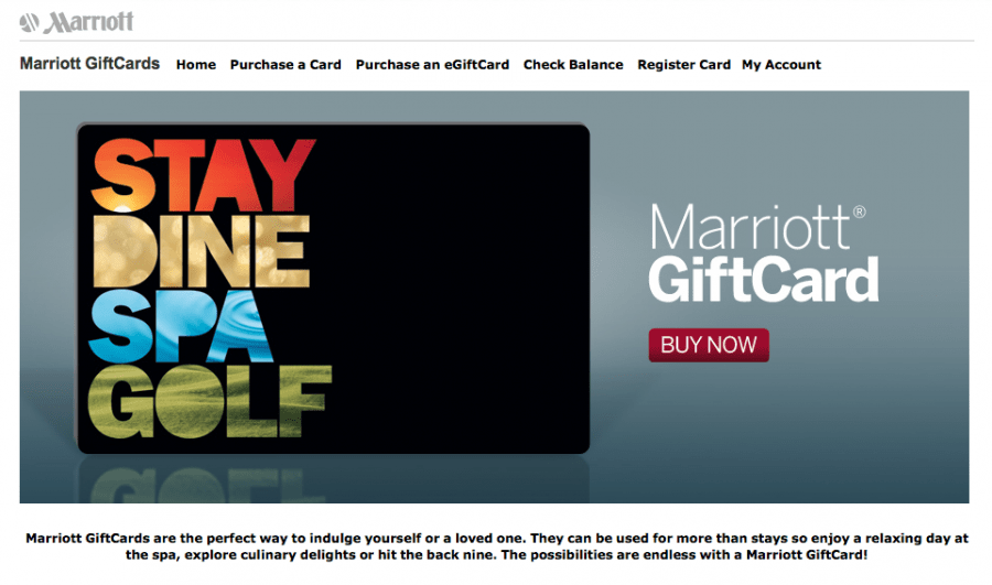 Marriott is one chain that will allow you to purchase gift cards that can be applied to spa treatments.