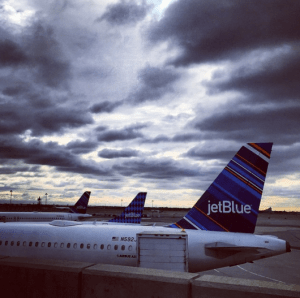 Dramatic skies for my early morning flight out of JFK on JetBlue