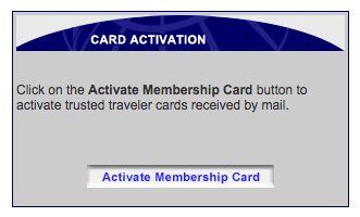 "The GOES site homepage features a button marked ""Activate Membership Card"""