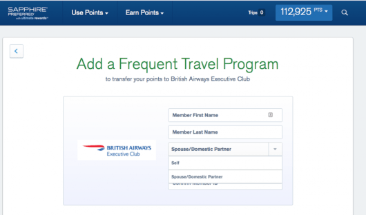 You can now only transfer Ultimate Rewards points to yourself, spouse or domestic partner.