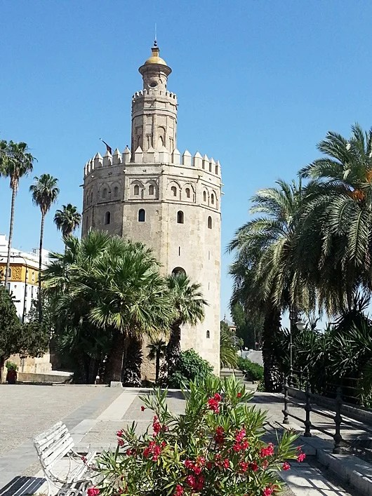 Welcome to Seville's Torre de Oro, the Gold Tower. Photo by Lori Zaino.