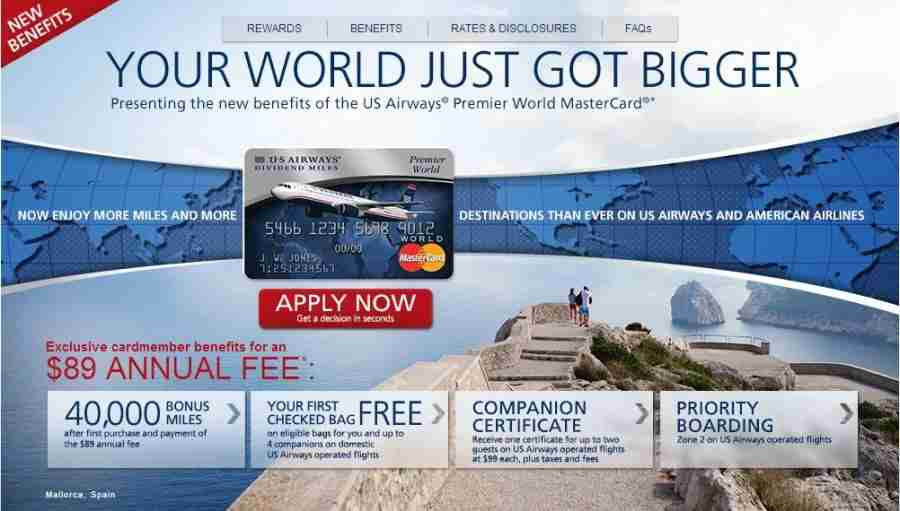 Apply for the US Airways Mastercard while you still can.