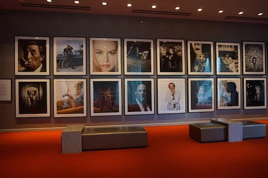 Celebrity portrait photography is a nice feature at the hotel.