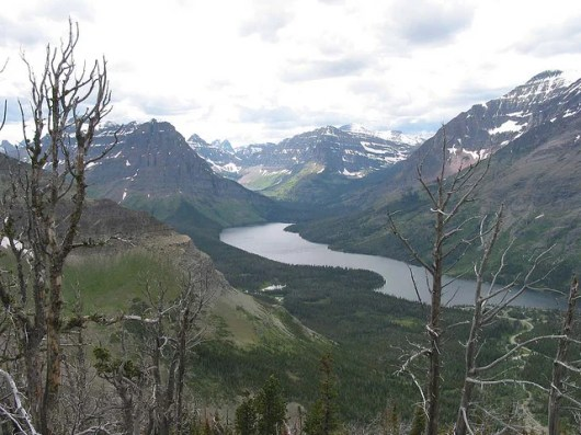 View of the Flathead River from Montana's Going to the Sun Road in Glacier National Park