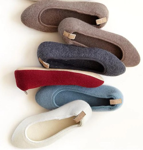 Red Envelope's Cozy Cashmere Slippers