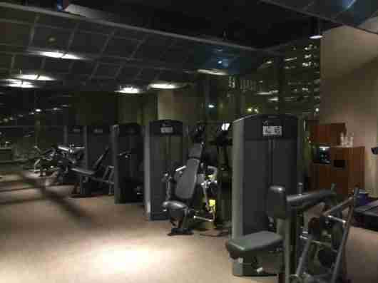 Spacious gym area