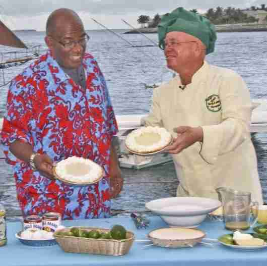 Kermit on air with his key lime pies with Al Roker.