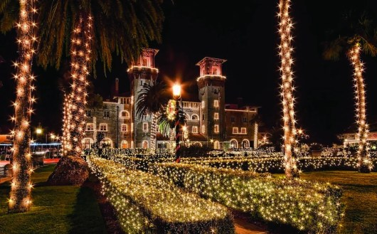 "St. Augustine's ""Nights of Lights"" festival illuminates many parts of the city."