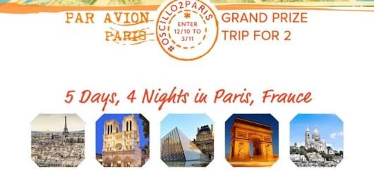 Win a trip to Paris, France