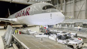 Qatar will be the A350 launch customer with service between Doha-Frankfurt.