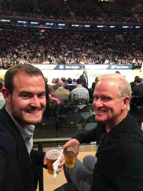 My dad (right) and I celebrating his birthday in SPG style at Madison Square Garden