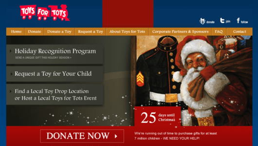 Toys for Tots is an easy way for you to contribute to needy children this holiday season.