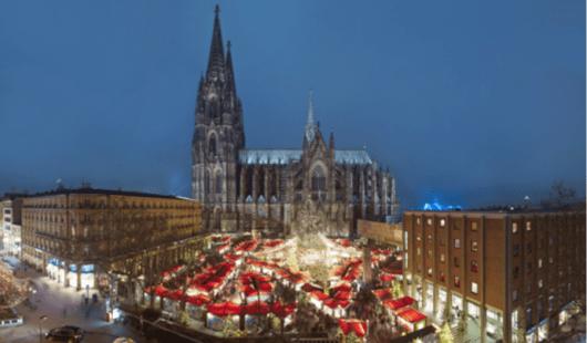Christmas Market at Cologne Cathedral (Photo courtesy of Dieter Jacobi/KolnTourismus GmbH)