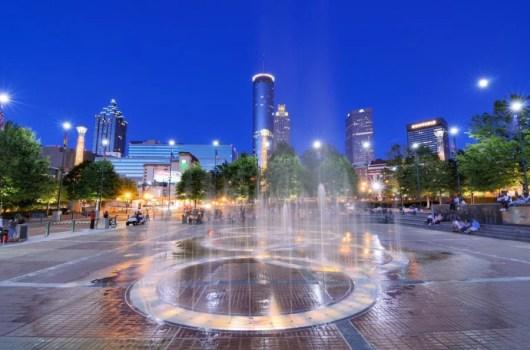 Centennial Park in Atlanta. Photo courtesy of Shutterstock.
