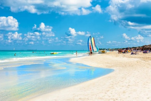 Ah, the white-sand beaches and turquoise water of Cuba's Varadero Beach. Photo courtesy of Shutterstock.