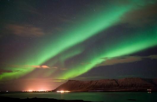 The northern lights on display near Reykjavik (Image courtesy of Shutterstock)