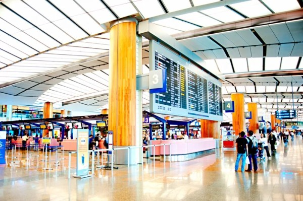 Welcome to the Singapore Changi Airport. Photo courtesy of Shutterstock.