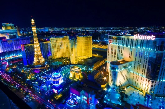 Las Vegas is already lit up at night - but New Year's takes the city to a while different level of excitement (Image courtesy