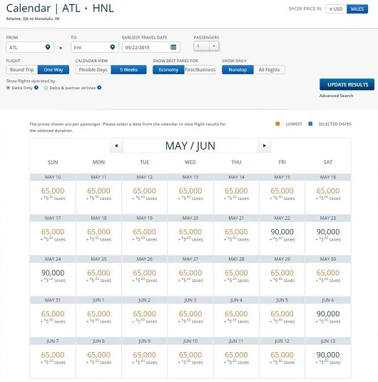 ATL-HNL Econ May June