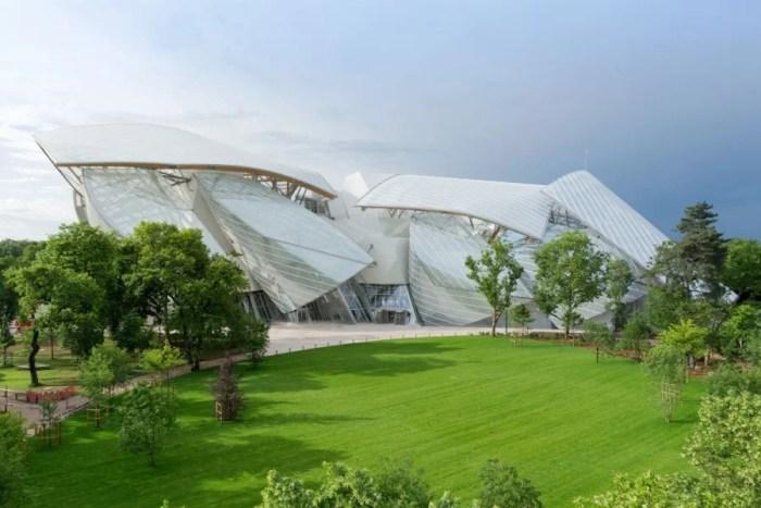 Frank Gehry designed Paris's new Fondation Louis Vuitton cultural center.