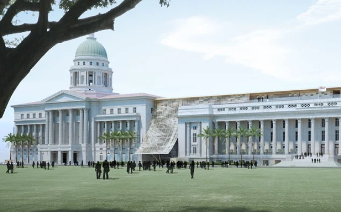 Singapore's new National Gallery will be housed in its former City Hall and Supreme Court. Photo courtesy of Studio Milou.