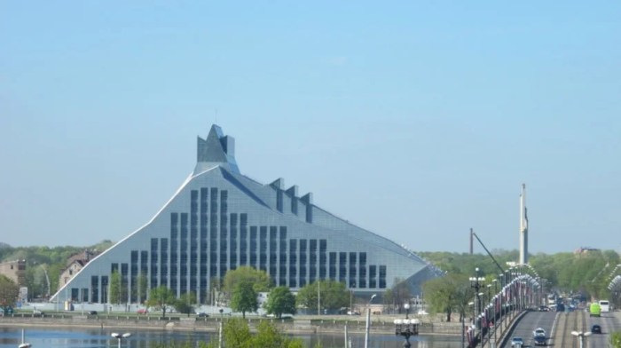 Latvia's new National Library was designed by Latvian-American Gunnar Birkerts.