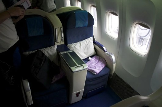 Business class seats on the 777-200.