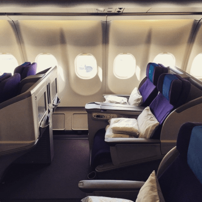A side view of the A330 seats.