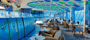 The kaleidoscopic dining room of Skyview at the Burj