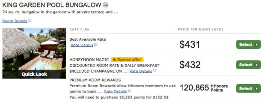 Hilton Moorea premium room