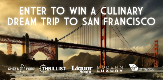 Win a trip to San Francisco to eat your heart out - rather than just leave it there.
