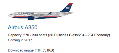 The best information we have so far about AA's A350's is from US Airways.