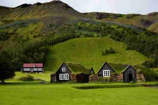 Traditional Icelandic sod houses. Photo courtesy of Shutterstock.