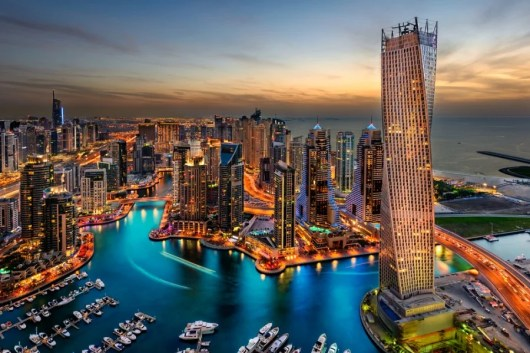 The city of Dubai, set beside the Arabian Gulf, is glitzy, glassy and over-the-top glamorous. Photo courtesy of Shutterstock.