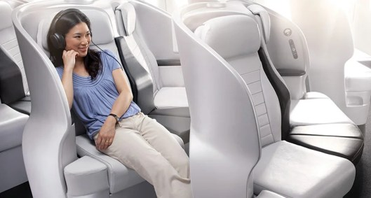 Premium Economy on Air New Zealand's 777-300 aircraft include their state of the art Spaceseat.