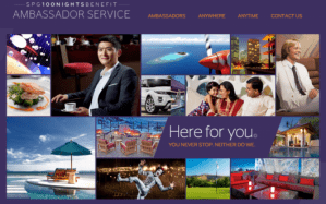 After 100 nights, you have access to SPG Ambassadors, though their usefulness may be limited.