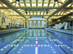 The magnificent pool at the Intercontinental Chicago Miracle Mile