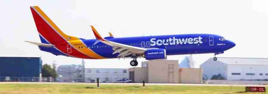 Southwest asks that you call them within 10 minutes of the flight to let them know.