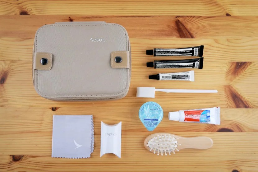 The Cathay Pacific first-class amenity kit. Image courtesy of Cathay Pacific.