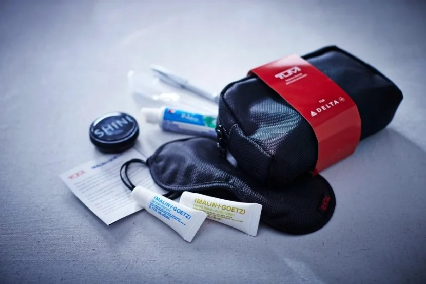 First Class Amenity Kit - Courtesy of Delta Air Lines