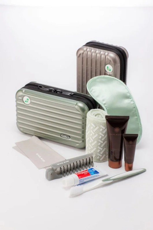 First Class Amenity Kit - Courtesy of EVA Air