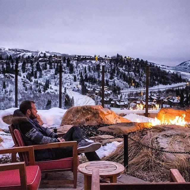 Simply looking at fire and a stunning landscape was enough to keep me warm.