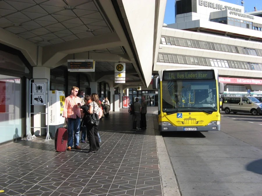 The TXL bus to the city (photo courtesy of Gag Halfrunt via Flickr)