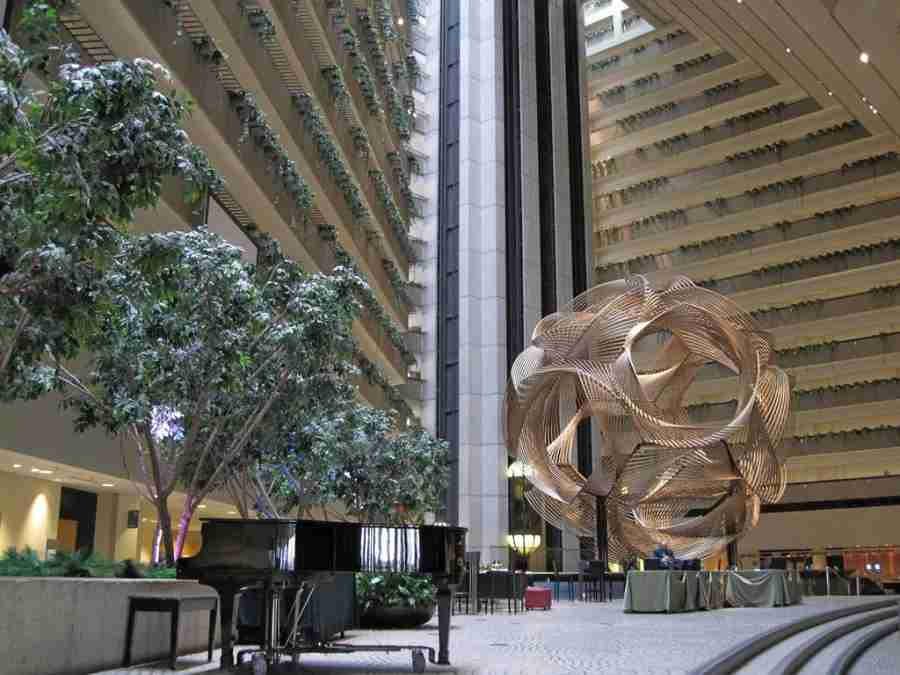 The atrium lobby at the Hyatt Regency (Photo courtesy of Robin Caper)